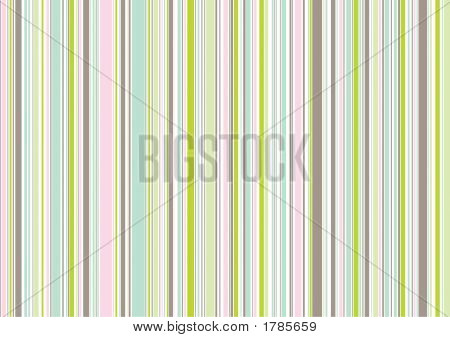 Garden Pink And Green Wedding Stripes