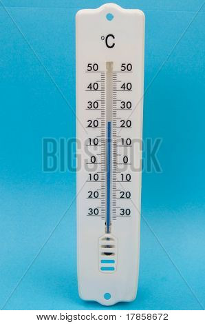 Thermometer Against Blue