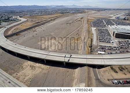 Hohokam Expressway and the Dry Salt River Bed