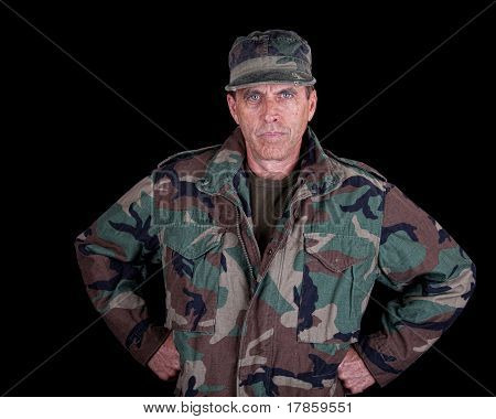 Solider With Arms Akimbo
