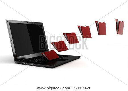 3d file sharing concept