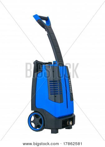 Blue Pressure Portable Washer Isolated