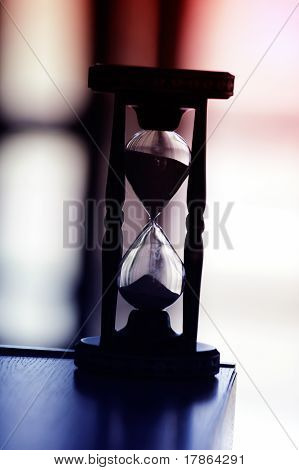 Hourglass With Modern Background