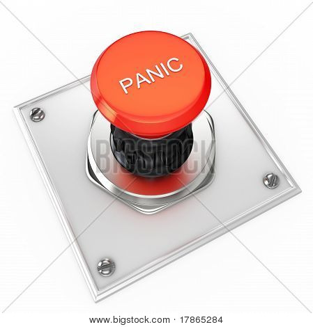 3D Red Panic Button