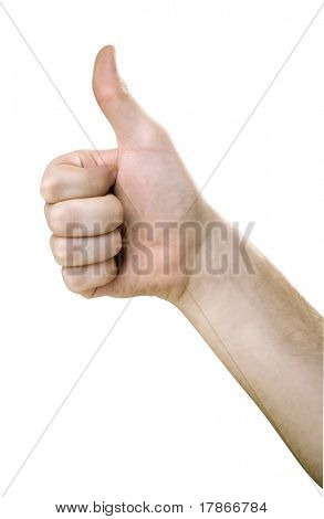 Hand with OK gesture