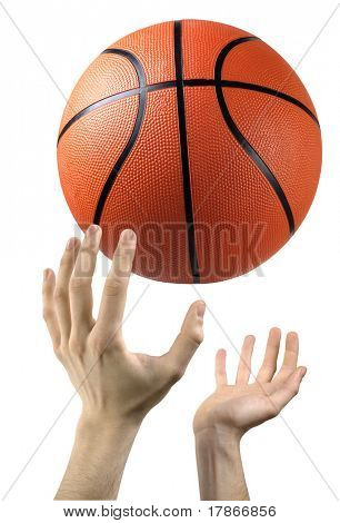 Hands ready to catch a basketball
