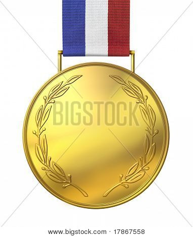 Blank gold medal of honor