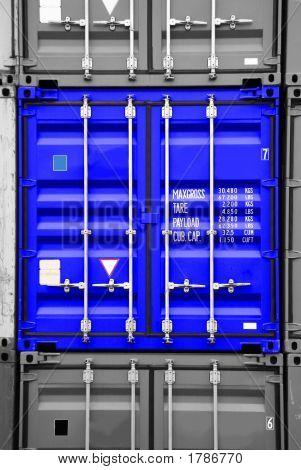 Container Blue Black/White