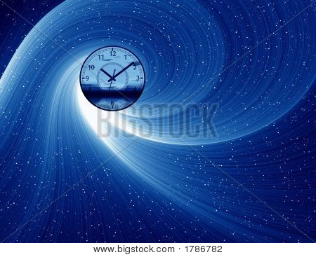 Blue Abstract With Hours