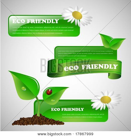 Green eco friendly banner collection