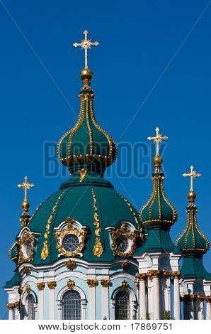 Domes Of The Andreevsky Cathedral