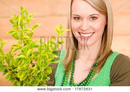 Portrait Happy Woman