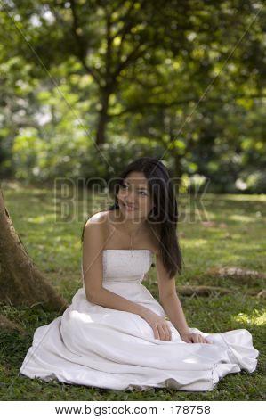 Asian Bride Outdoors 3