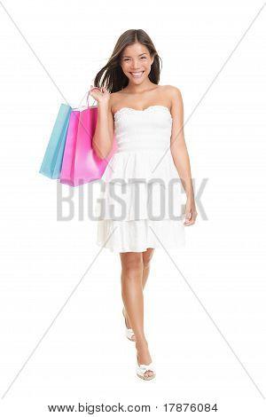 Shopping Woman In Summer Dress