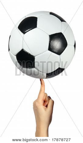 Soccer Ball On An Index Finger