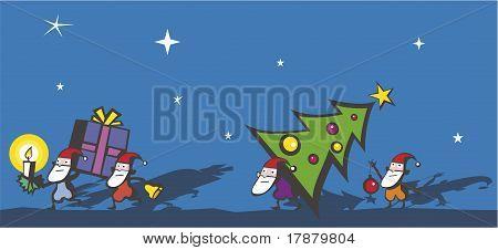 Funny Christmas Dwarfs