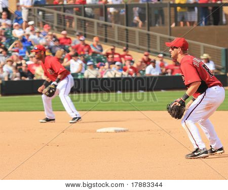 Arizona Diamondbacks Willie Bloomquist at Second