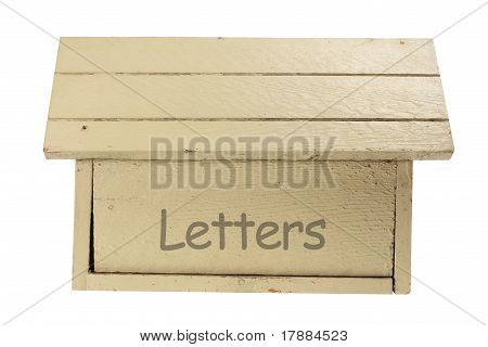 Wooden Mail Box