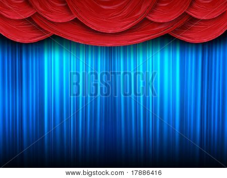 Modern Curtains Of A Stage