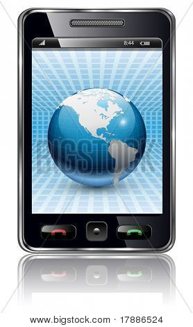 Mobile phone, smartphone - original design, vector illustration.
