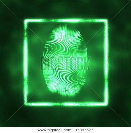 Illustration Of The Fingerprint