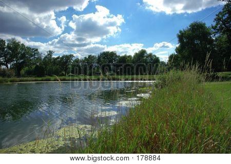 Uma lagoa