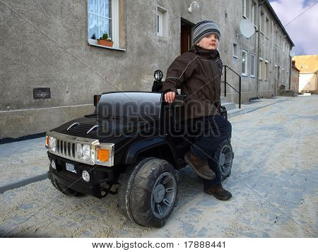 Boy with car