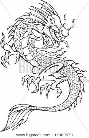 Ilustración de vector de Dragon