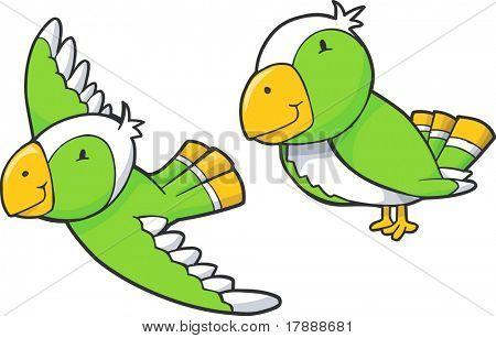 Vector Parrot Set