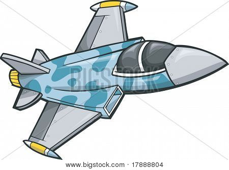 Jet Fighter Vector Illustration
