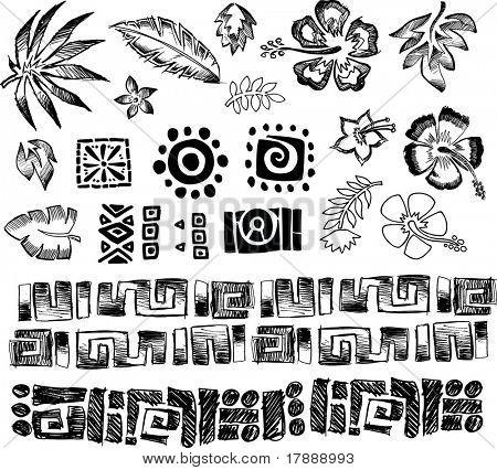 Tropical Elements Vector Illustration