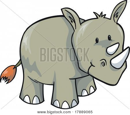 Rhinoceros Vector Illustration