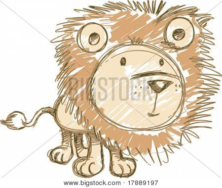 Sketchy Lion Vector Illustration