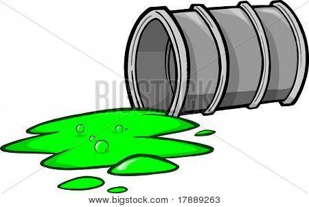 Toxic Waste Vector Illustration