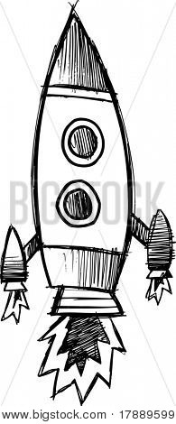 sketchy rocket Vector Illustration