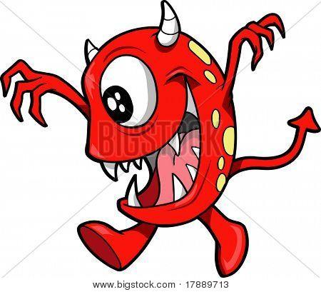 Ilustração em vetor monstro Devil