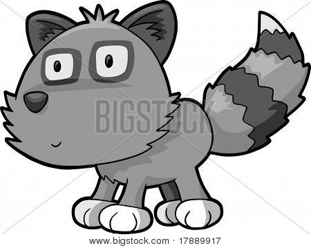 Raccoon Vector Illustration