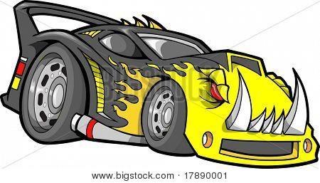Hot-Rod-Rennwagen-Vektor-Illustration