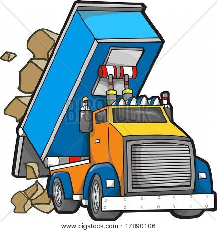 Dump truck Vector Illustration