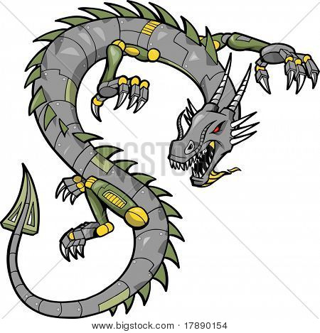 Metal Dragon Vector Illustration