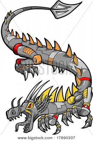 Iron Dragon Vector Illustration