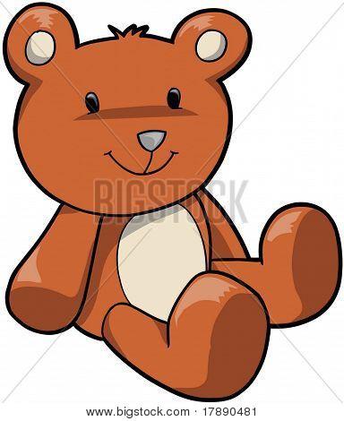 Ilustración de Vector de oso de peluche