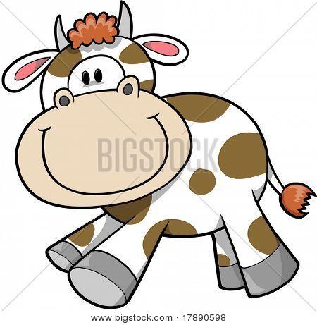 glücklich Kuh-Vektor-illustration