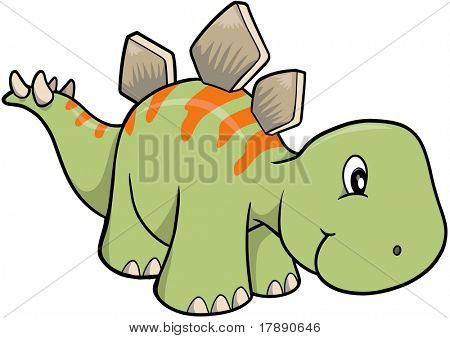 stegosaurus Dinosaur Vector Illustration