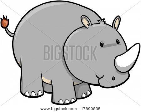 Rhino Vector Illustration