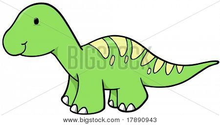 Green Dinosaur Vector Illustration