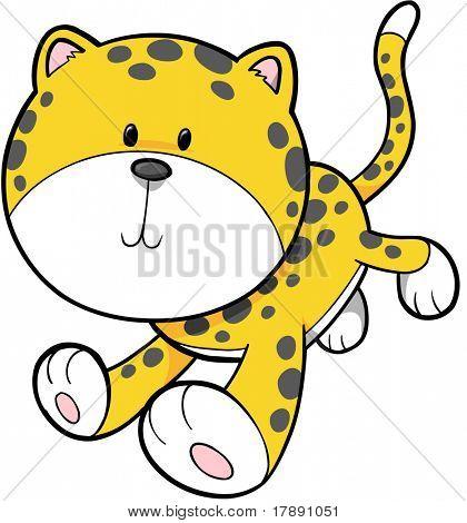 Safari selva leopardo Vector Illustration