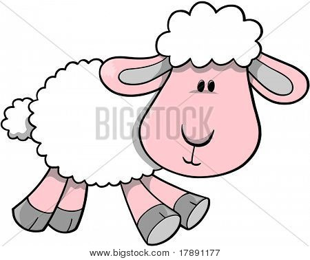 Vector Illustration of Sheep