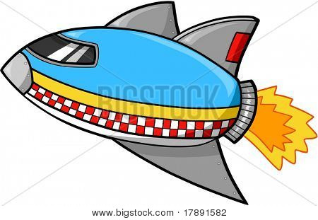 Rocket ship Vector Illustration