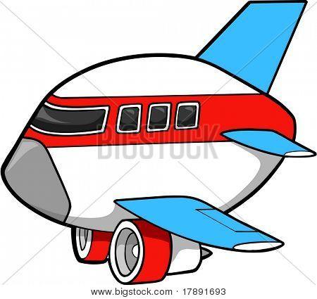 Jumbo Jet Vector Illustration